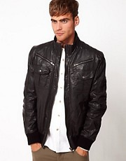 Code Leather Jacket Bomber