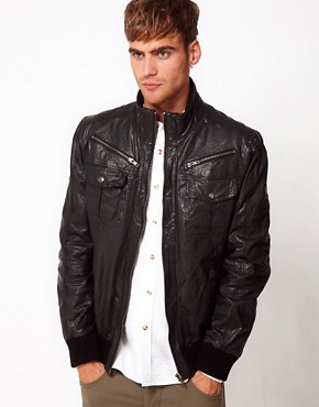 Image 1 ofCode Leather Jacket Bomber