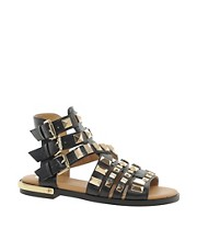 River Island Parch Gladiator Heavy Studded Sandals