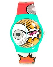 Paul&#39;s Boutique Cartoon Print Watch