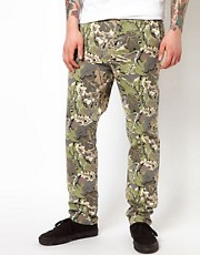 Chinos de cazador con estampado de camuflaje de Wemoto