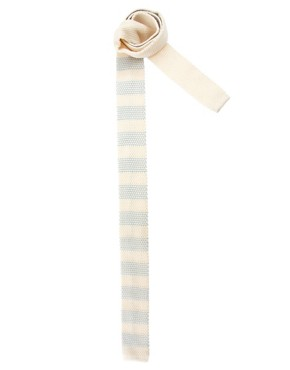 Image 1 of ASOS Knitted Stripe Tie