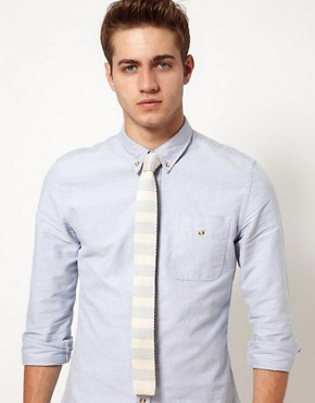Image 4 of ASOS Knitted Stripe Tie