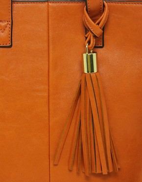 Image 2 ofASOS Mini Tote Bag With Tassel Detail