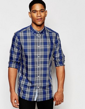 !SOLID Check Shirt In Regular Fit