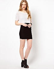 By Zoe Jersey Mini Skirt with Pleating