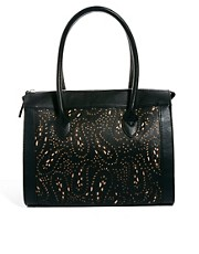Mango Cutwork Lady Handbag