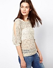 Warehouse Space Dye Pointelle Top
