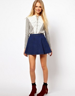 Image 4 ofASOS Lace Front Cardigan with Collar
