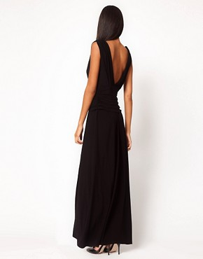 Image 2 ofASOS Grecian Maxi Dress with Thigh Split