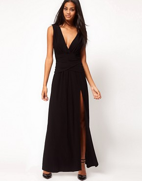 Image 4 ofASOS Grecian Maxi Dress with Thigh Split