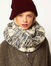 ASOS Metallic Patchwork Knit Snood