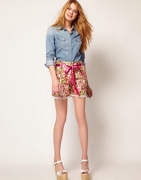 Image 1 ofJohann Earl Floral Print Shorts