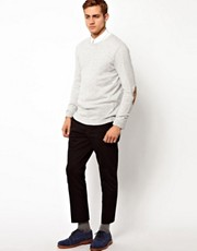 ASOS Crew Neck Jumper With Elbow Patches