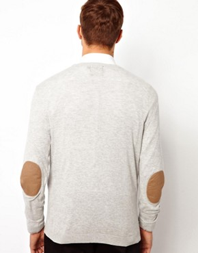 Image 3 ofASOS Crew Neck Jumper With Elbow Patches