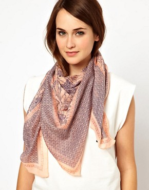 Image 1 ofMango Touch Tile Print Woven Scarf