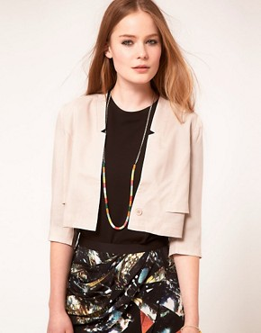 Image 1 ofFactory By Erik Hart Cropped Gabardine Blazer