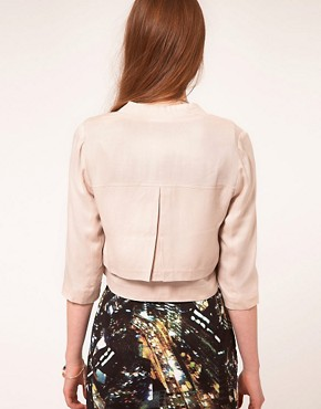 Image 2 ofFactory By Erik Hart Cropped Gabardine Blazer
