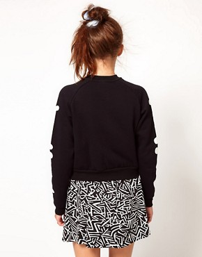 Image 2 ofLazy Oaf Rib Cage Bomber Jacket