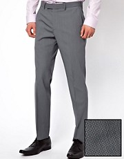 Lambretta Suit Trousers In Gingham Check