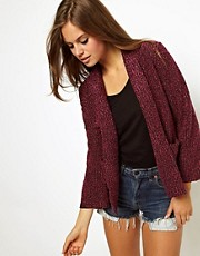 ASOS Blazer In Pink Textured Boucle