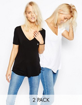 ASOS The New Forever T-Shirt 2 Pack Save 15%