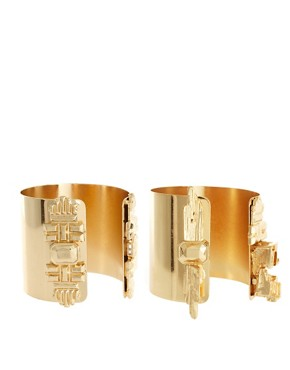 Image 1 ofASOS REVIVE Superhero Double Cuffs