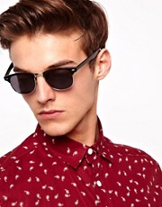 ASOS Black  Clubmaster-Sonnenbrille