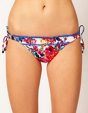 Baku Mi Amor Floral Print Tie Side Bikini Bottom