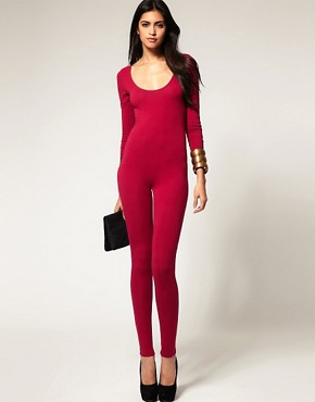 Image 2 ofASOS Long Sleeve Slash Back Unitard