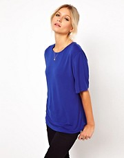 ASOS Oversized T-Shirt in Crepe