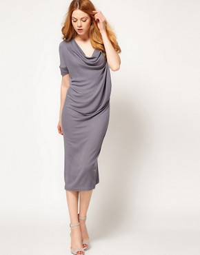 Image 4 ofImprovd Cowl Neck Skylar Jersey Dress