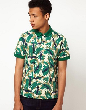 Image 1 ofLacoste Live! Slim Fit Printed Polo