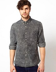 ASOS Acid Wash Denim Shirt
