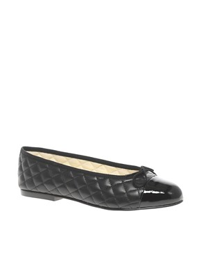 Image 1 ofFrench Sole Simple Classic Quilted Ballet Flats