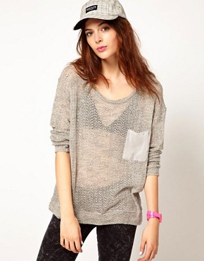 Image 1 ofLnA Long Sleeve Knit With Contrast Pocket