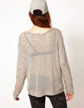 Image 2 ofLnA Long Sleeve Knit With Contrast Pocket