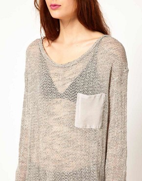 Image 3 ofLnA Long Sleeve Knit With Contrast Pocket