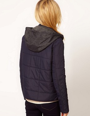 Image 2 ofRiver Island Hooded Quilted Jacket