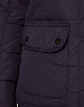 Image 3 ofRiver Island Hooded Quilted Jacket