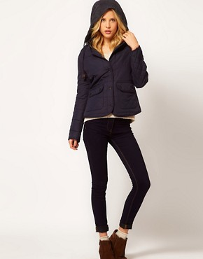 Image 4 ofRiver Island Hooded Quilted Jacket