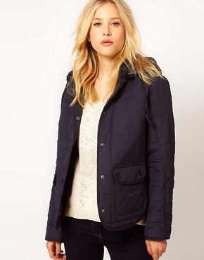 Image 1 ofRiver Island Hooded Quilted Jacket