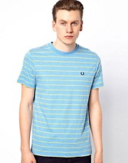 Fred Perry Fred Perry T-Shirt with Fine Stripe