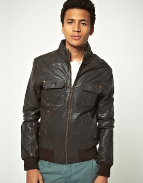 Image 1 ofSelected Pete Leather Jacket
