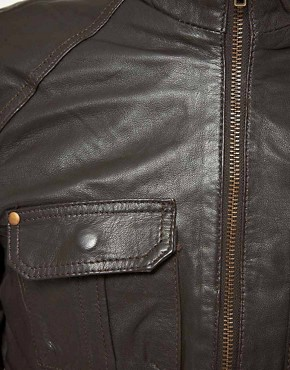 Image 3 ofSelected Pete Leather Jacket