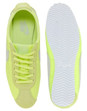 Image 4 ofNike Cortez Lime Trainers