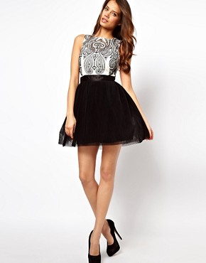 Image 4 ofLipsy VIP Prom Dress with Embroidered Bodice