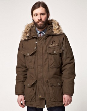 Image 1 ofSchott Parka with Faux Fur Hood