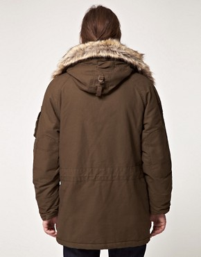 Image 2 ofSchott Parka with Faux Fur Hood