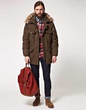 Image 4 ofSchott Parka with Faux Fur Hood